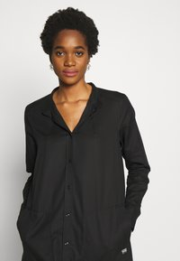 G-Star - MILARY LONG SLEEVE SHIRT DRESS - Korte jurk - dark black - 3
