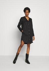 G-Star - MILARY LONG SLEEVE SHIRT DRESS - Korte jurk - dark black - 1