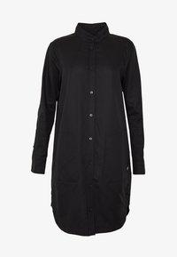 G-Star - MILARY LONG SLEEVE SHIRT DRESS - Korte jurk - dark black - 4