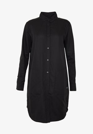 MILARY LONG SLEEVE SHIRT DRESS - Day dress - dark black