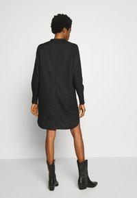 G-Star - MILARY LONG SLEEVE SHIRT DRESS - Korte jurk - dark black - 2