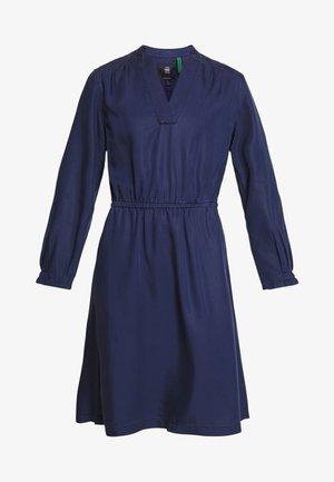 OGEE STRAIGHT FLARE LONG SLEEVE DRESS - Korte jurk - sartho blue