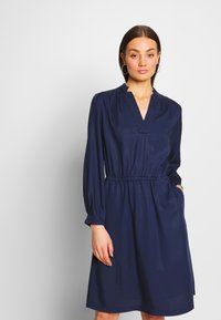 G-Star - OGEE STRAIGHT FLARE LONG SLEEVE DRESS - Kjole - sartho blue - 0