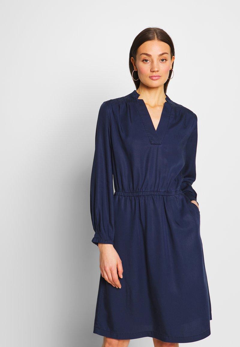 G-Star - OGEE STRAIGHT FLARE LONG SLEEVE DRESS - Kjole - sartho blue