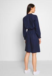 G-Star - OGEE STRAIGHT FLARE LONG SLEEVE DRESS - Kjole - sartho blue - 2