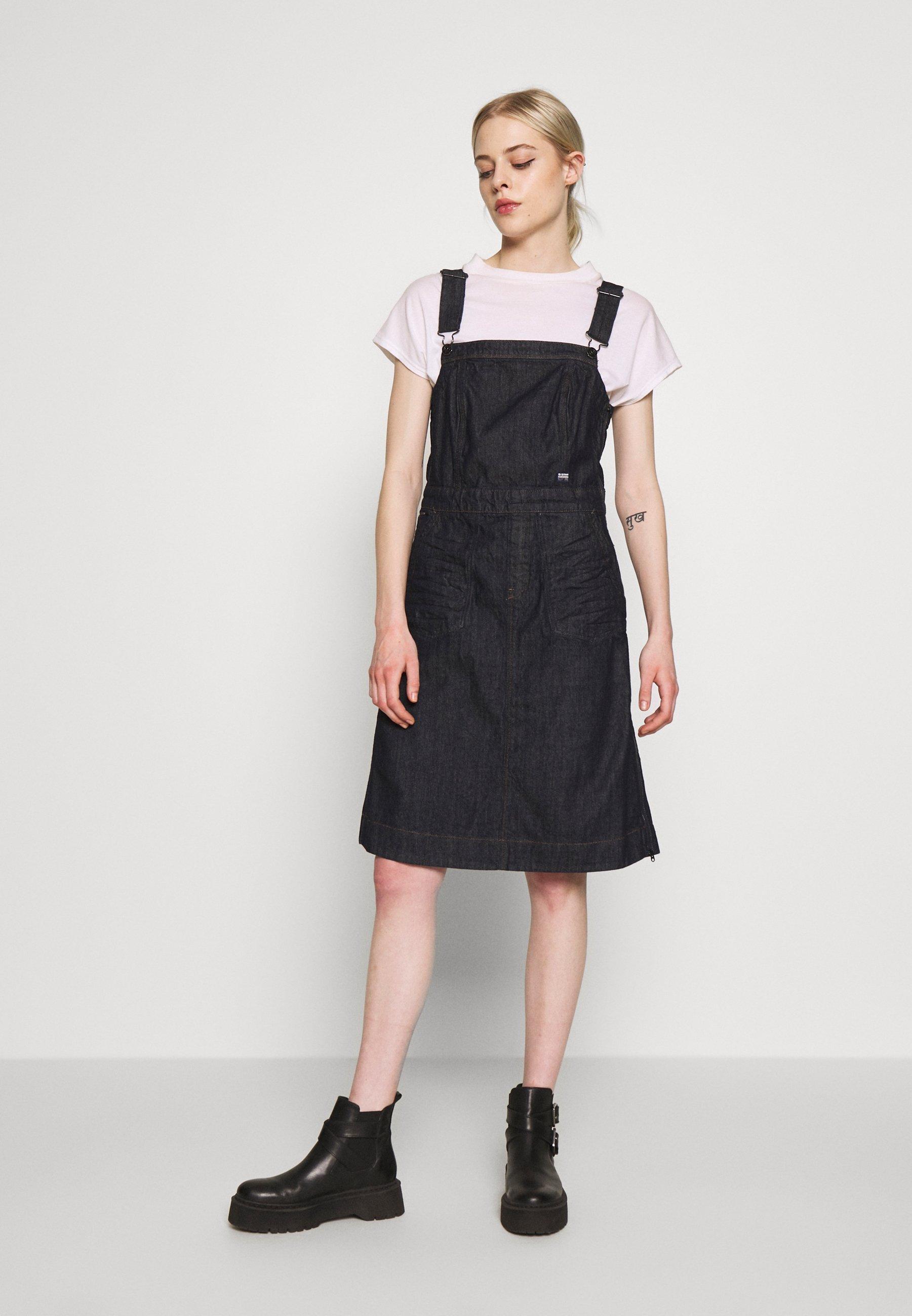 G-Star EYEVI FIT & FLARE DRESS - Sukienka jeansowa - raw denim