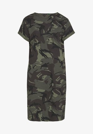 REI HOODED - Jersey dress - green