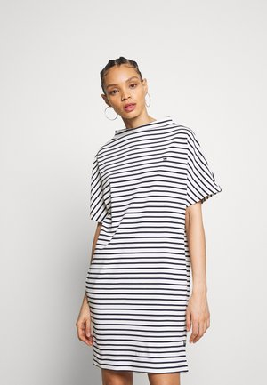 JOOSA DRESS FUNNEL - Jerseyjurk - dark blue/white