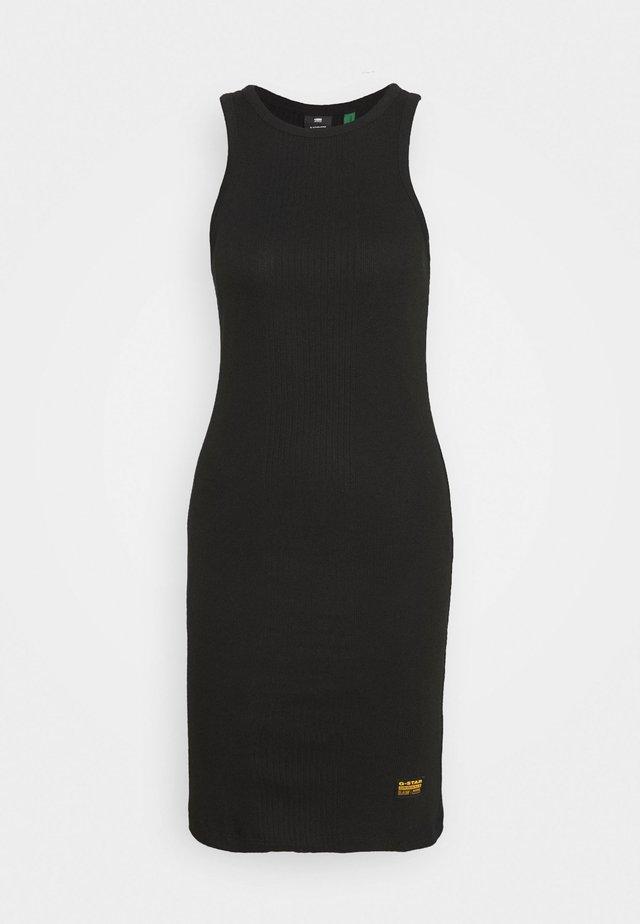 RIB SLIM - Vestido de tubo - black