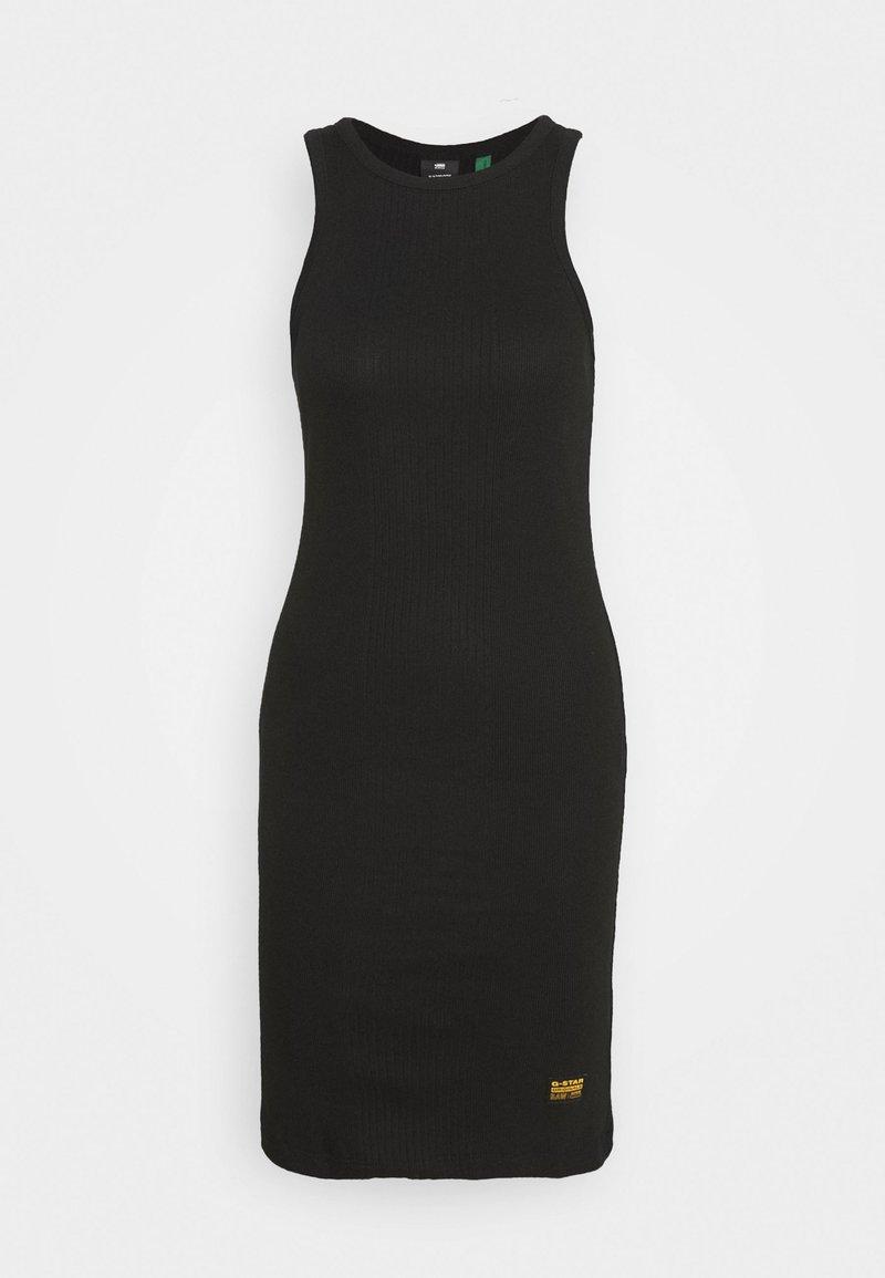 G-Star - RIB SLIM - Vestido de tubo - black