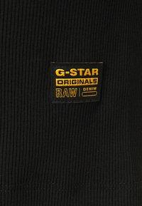 G-Star - RIB SLIM - Vestido de tubo - black - 2