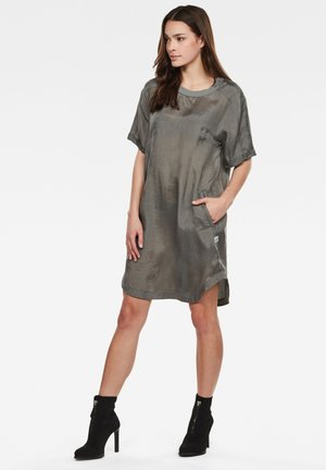 WOVEN TEE - Day dress - grey