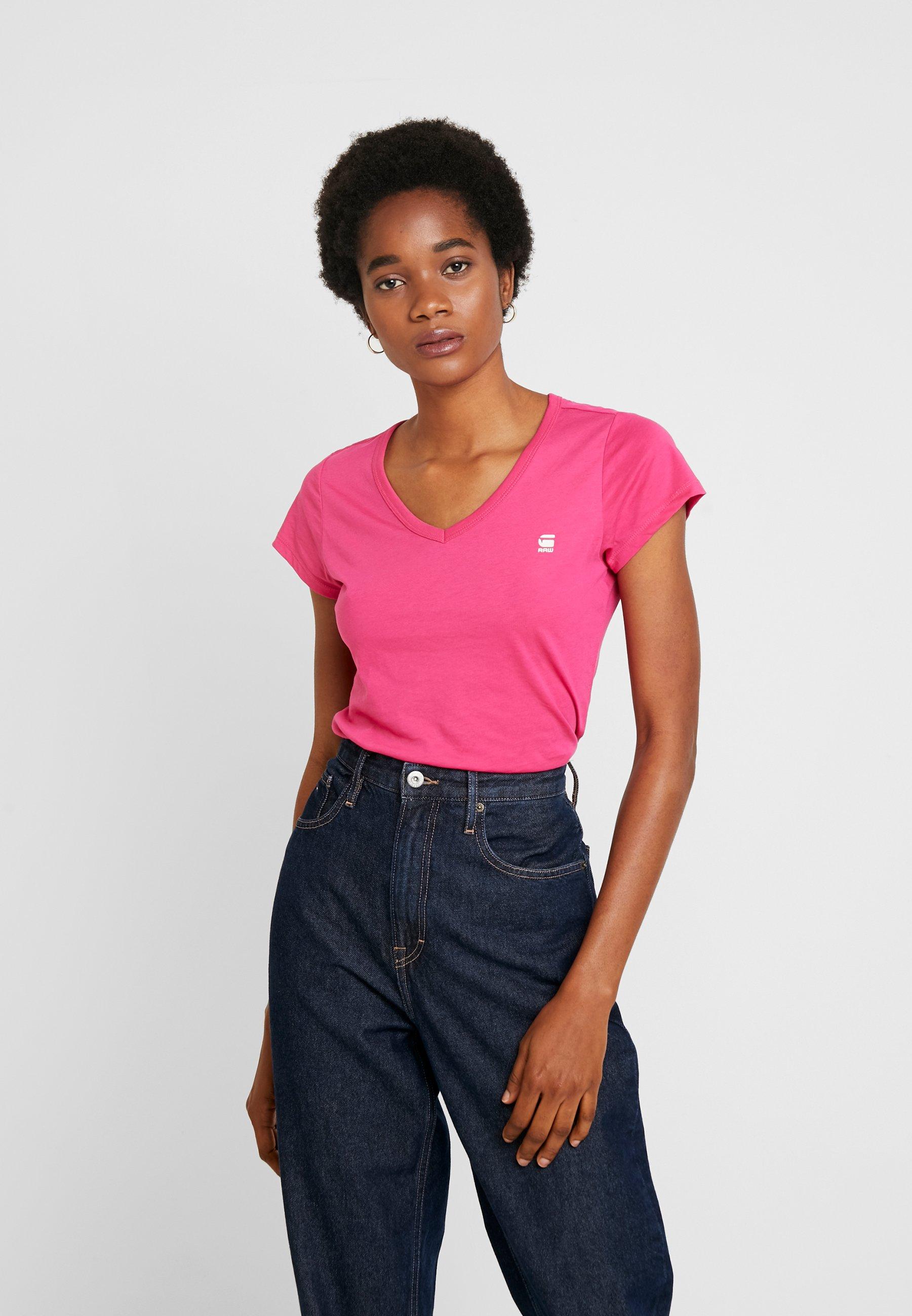 G-Star EYBEN SLIM V T  S/S - T-shirt basic - bright rebel pink