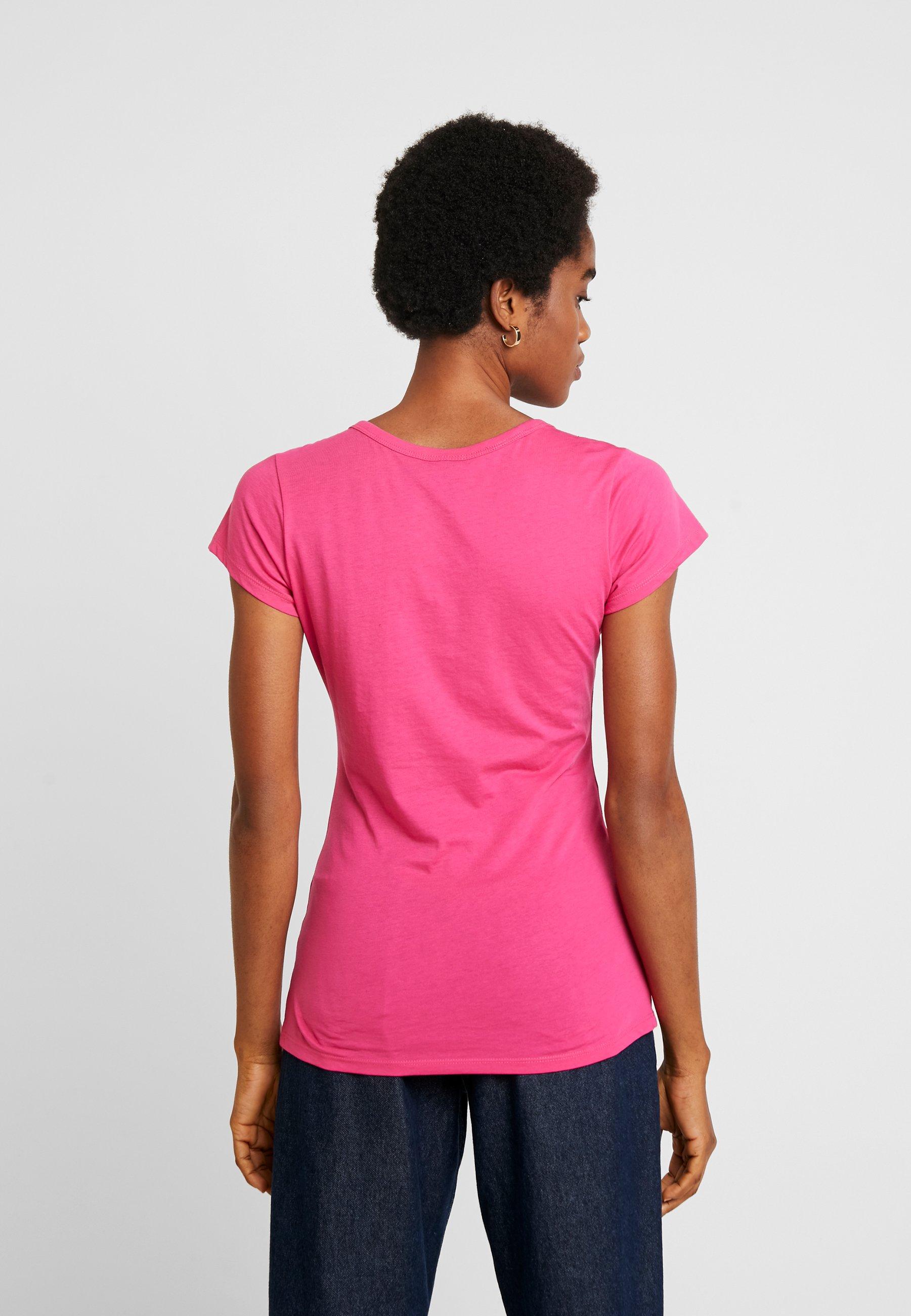 G-Star EYBEN SLIM V T  S/S - T-shirts - bright rebel pink