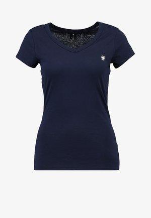 EYBEN SLIM V T  S/S - T-shirt basique - sartho blue
