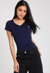 G-Star - EYBEN SLIM V T  S/S - T-shirt - bas - sartho blue - 0