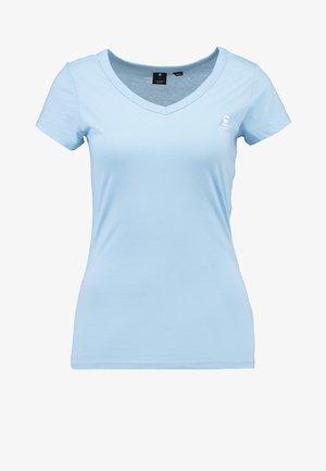EYBEN SLIM V T  S/S - Basic T-shirt - siali blue