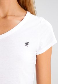 G-Star - EYBEN SLIM V T  S/S - T-shirt basic - white - 3