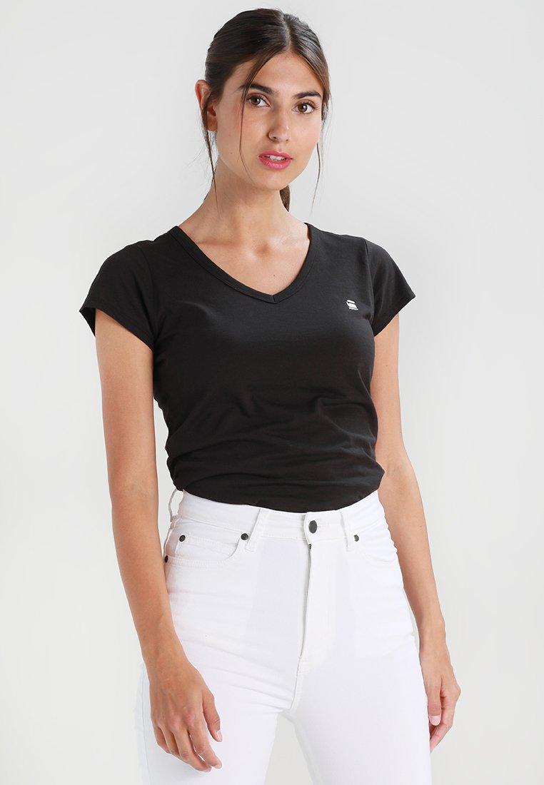 G-Star - EYBEN SLIM V T  S/S - T-shirt - bas - black