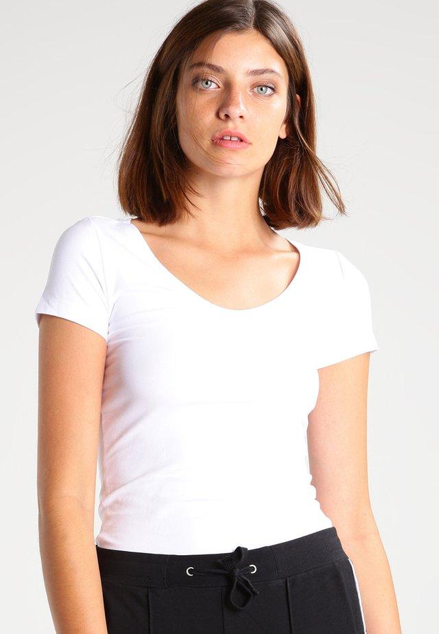 BASE - T-shirt basic - white