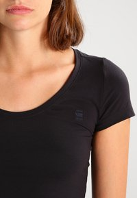 G-Star - BASE R T WMN CAP SL - Basic T-shirt - black - 3