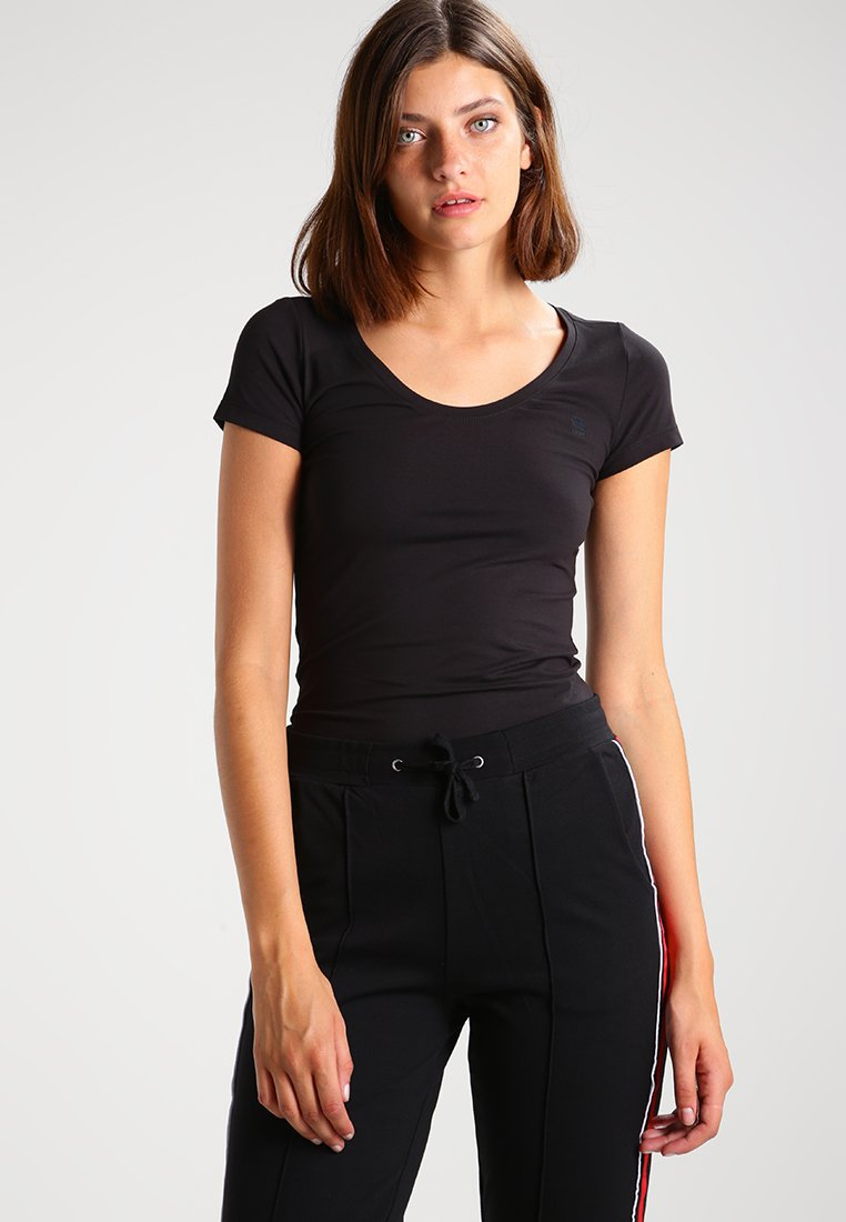 G-Star - BASE R T WMN CAP SL - T-Shirt basic - black