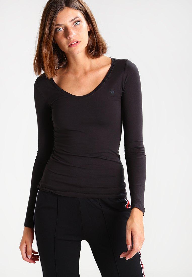 G-Star - BASE R T WMN L/S - Långärmad tröja - black