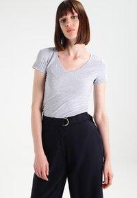 G-Star - BASE V T WMN CAP SL - T-shirt basique - grey heather - 0