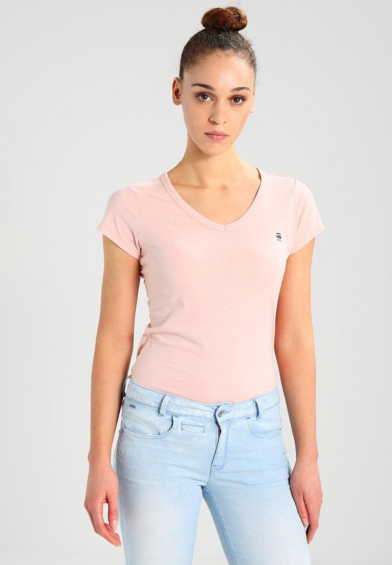 G-Star - EYBEN SLIM V TS/S - T-shirts basic - mauve
