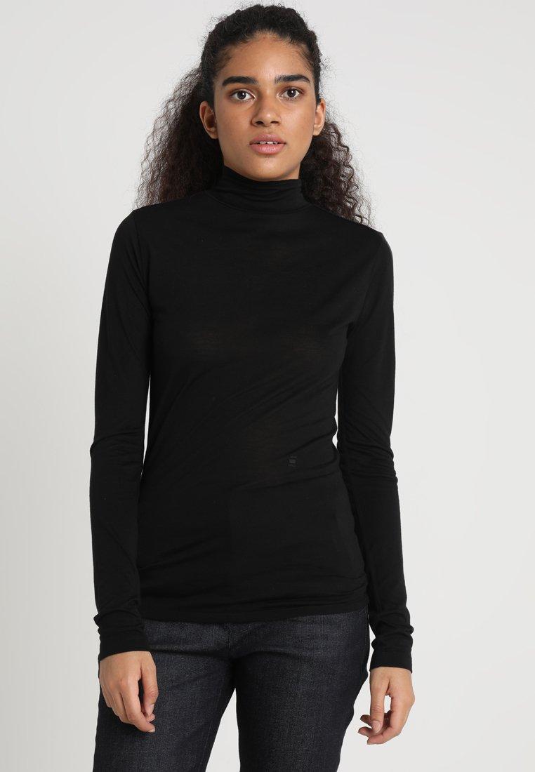 G-Star - HIKA SLIM FUNNEL T WMN L/S - Long sleeved top - black