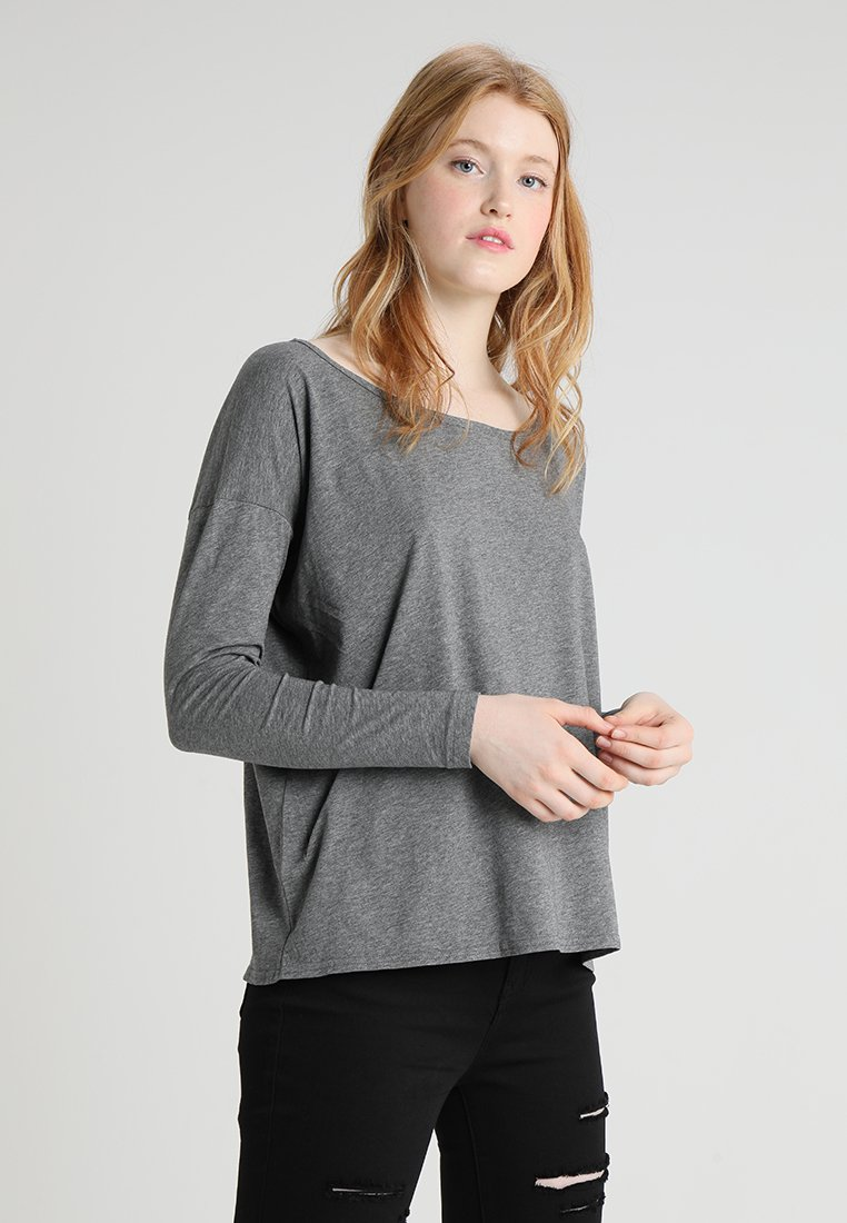 G-Star - LAJLA R T WMN L\S - Long sleeved top - carbid heather