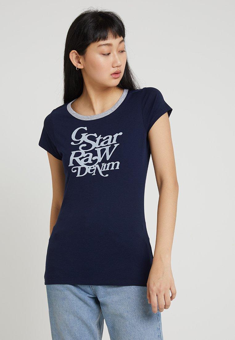 G-Star - CIVITA SLIM - T-Shirt print - sartho blue