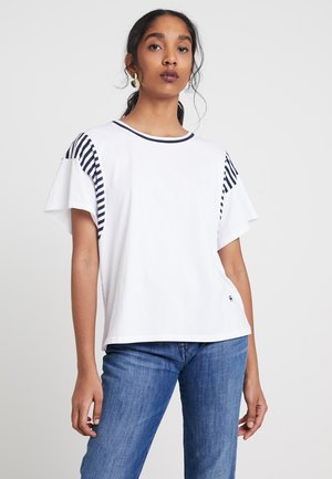 NORCIA LOOSE R T WMN S\S - T-shirt med print - white