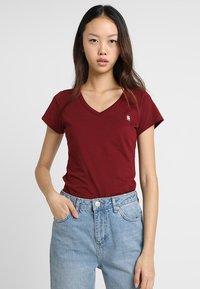 G-Star - EYBEN SLIM - T-shirt basique - bright russet - 0