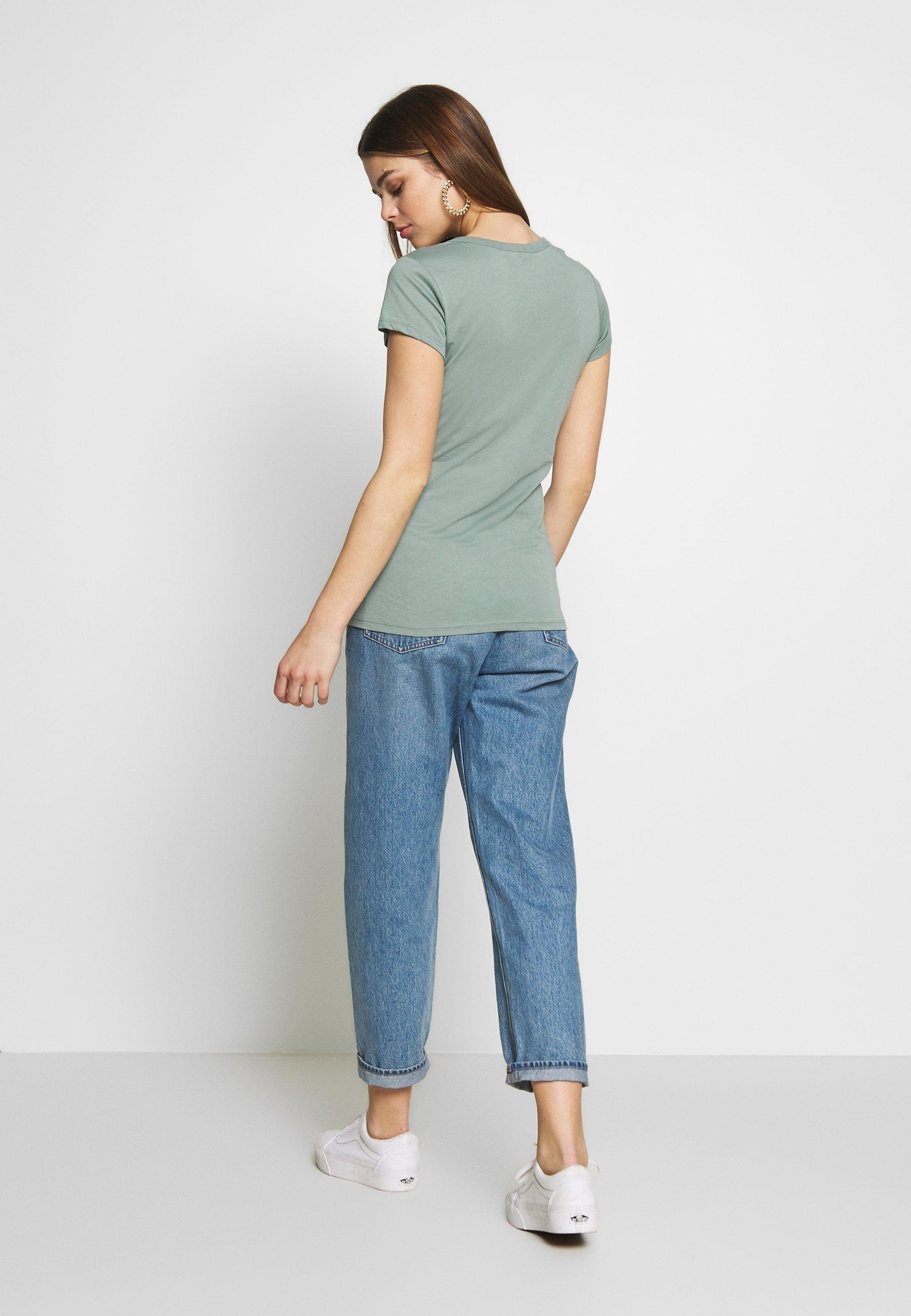 G-Star EYBEN SLIM - T-shirts - dusty green