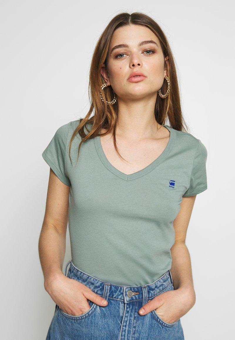 G-Star - EYBEN SLIM - T-shirt - bas - dusty green