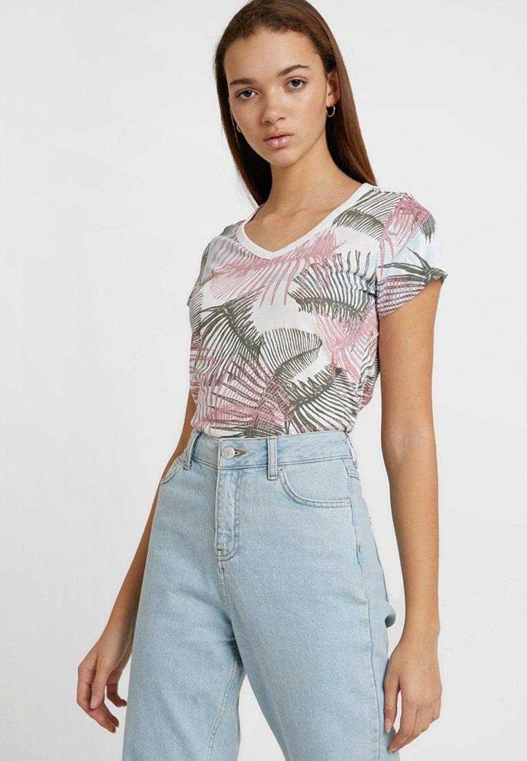 G-Star - YIVA SLIM V T WMN S\S - T-Shirt print - milk/siali blue