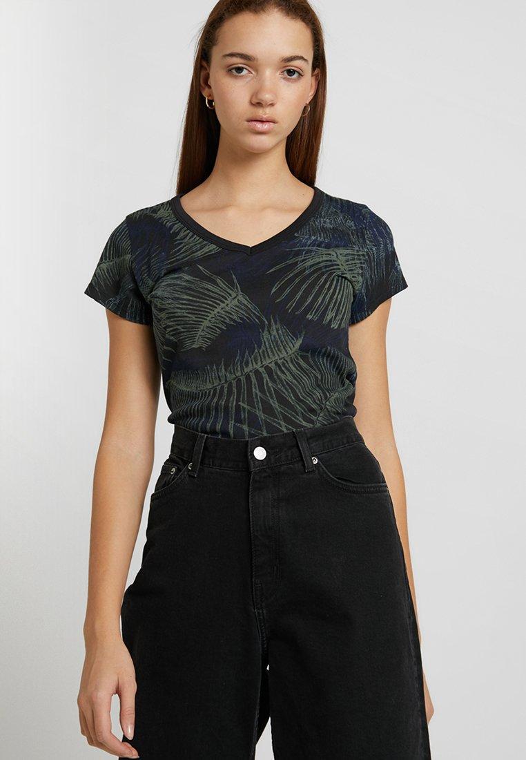 G-Star - YIVA SLIM V T WMN S\S - T-Shirt print - siali blue/black
