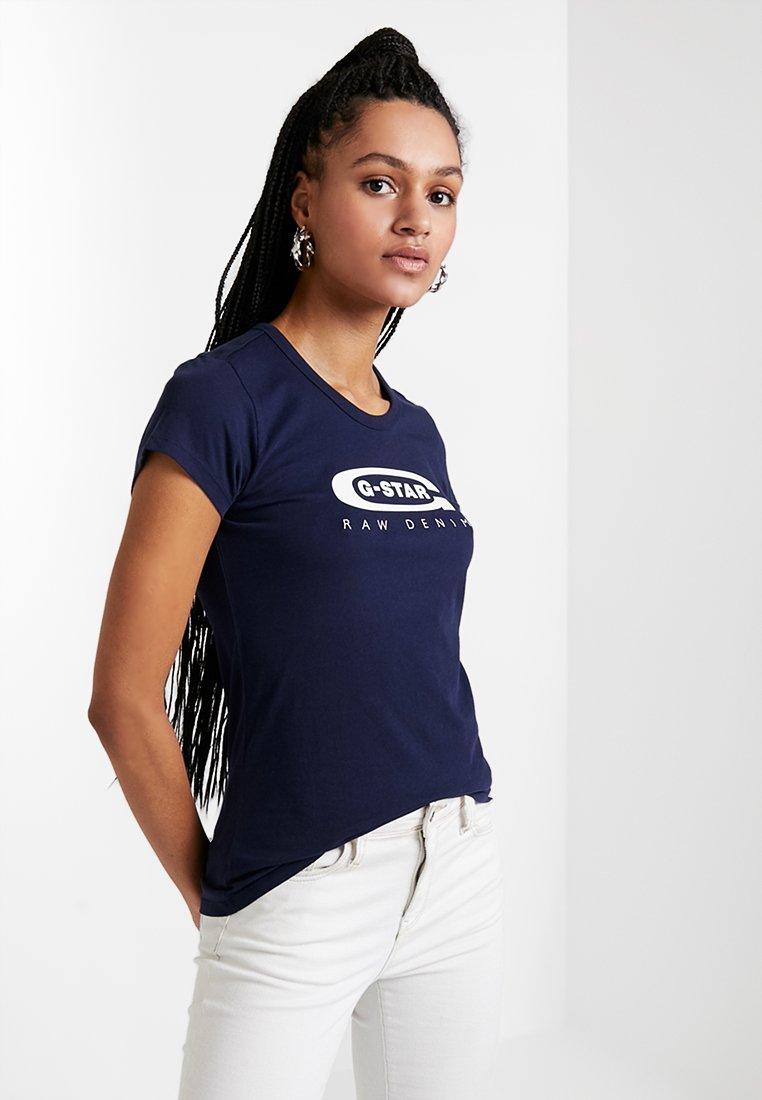 G-Star GRAPHIC  - T-shirts med print - sartho blue