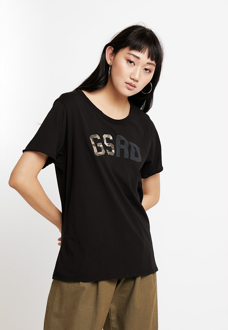 G-Star - GRAPHIC 9 CAIRN LOOSE R T WMN S\S - T-Shirt print - dark black