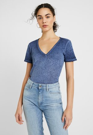 MYSID OPTIC SLIM - Print T-shirt - sartho blue