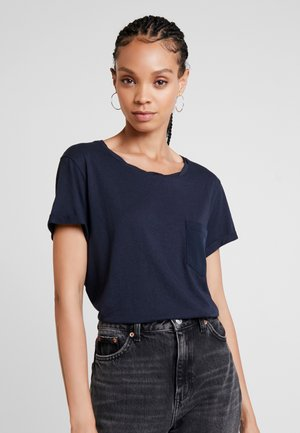 CAIRN LOOSE - T-shirts - mazarine blue