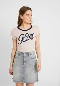 G-Star - GRAPHIC 27 SLIM R T WMN S\S - Camiseta estampada - light pink - 0