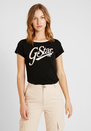 GRAPHIC LOGO SLIM - T-shirt imprimé - black