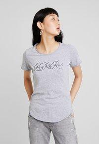 G-Star - GRAPHIC OPTIC SLIM - Print T-shirt - grey heather - 0
