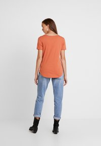 G-Star - GRAPHIC OPTIC SLIM - Print T-shirt - dusty royal orange - 2