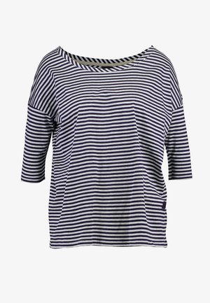 VIM LOOSE - Print T-shirt - grey htr/mazarine blue stripe