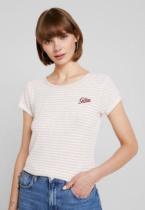 GRAPHIC - Camiseta estampada - light pink/white