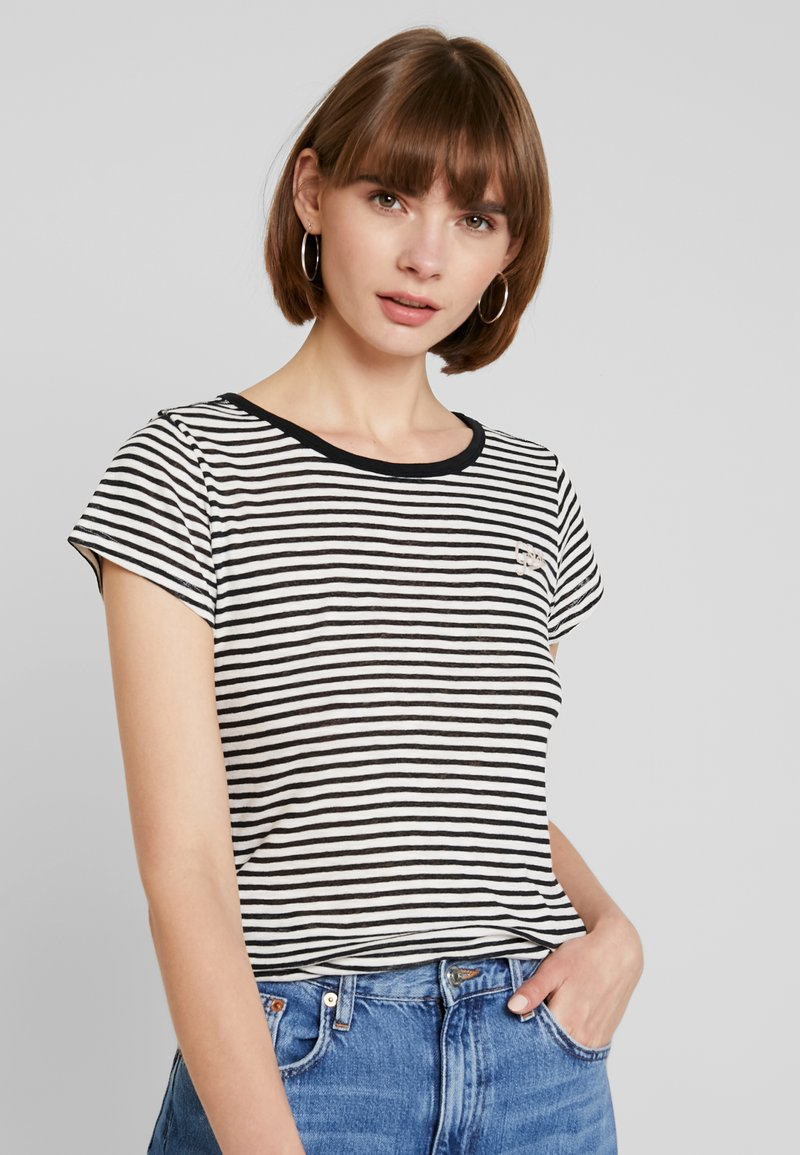 G-Star - GRAPHIC - T-Shirt print - milk/black