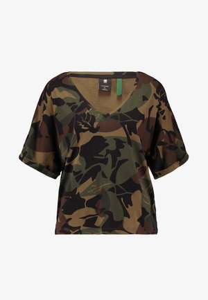 JOOSA  - T-shirt z nadrukiem - wild olive/forest night